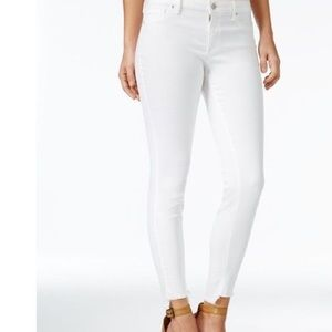 Jessica Simpson White Skinny Ankle Jeans